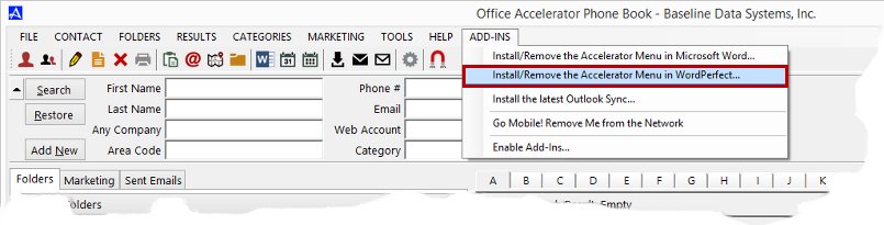 Add-In Options dialog Box