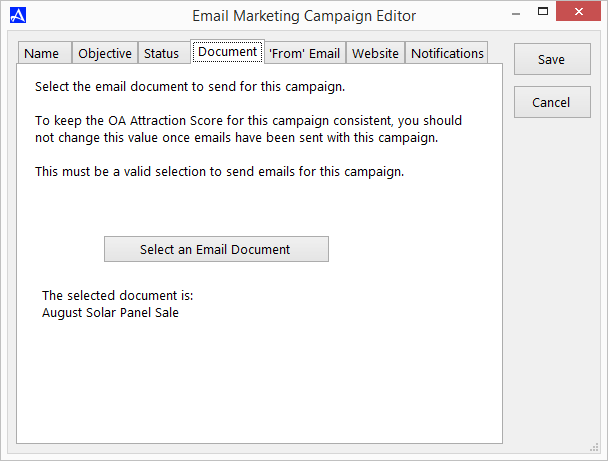 Verify or Select Email Document