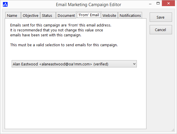 Verify or Select Verified From Email Address