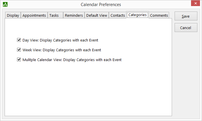 Category Display Preferences