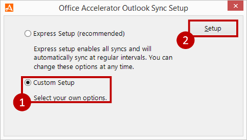Office Accelerator Sync Express Setup