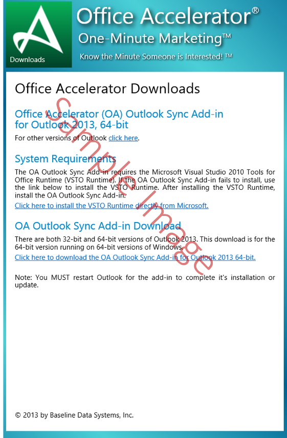 Office Accelerator Outlook Sync Download Site