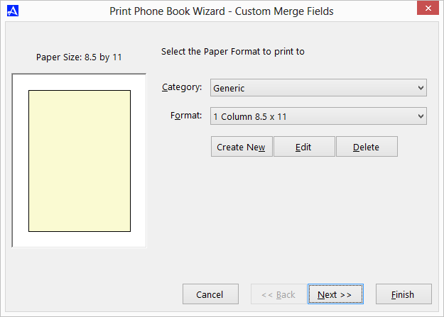 Office Accelerator Print Wizard - Printing Custom Merge Fields (Selecting Paper Type)