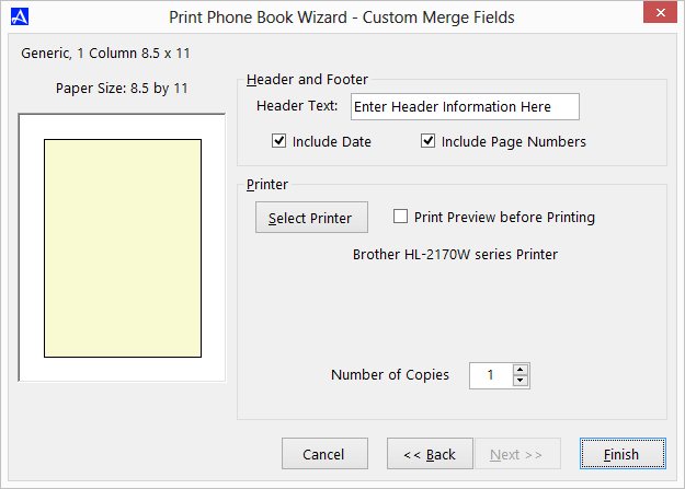 Office Accelerator Print Wizard - Printing Custom Merge Fields (Selecting Print Formatting Options)