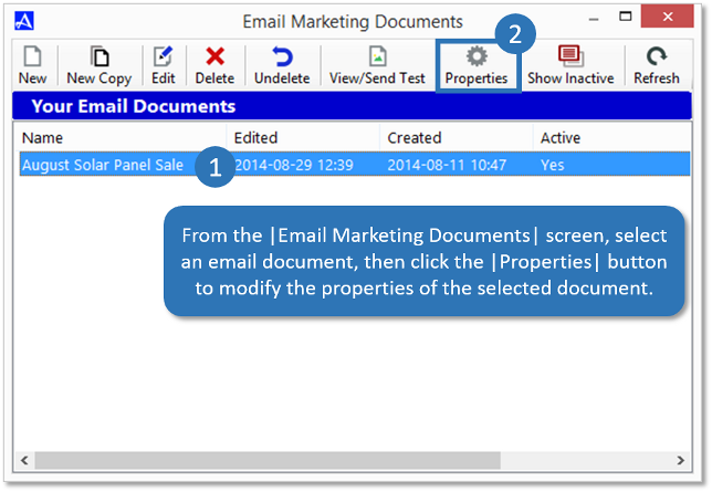 Email Document Properties