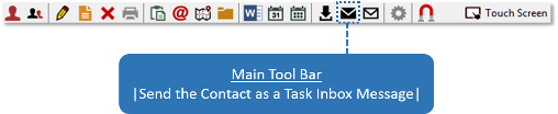 Send Contact to Task Inbox Icon